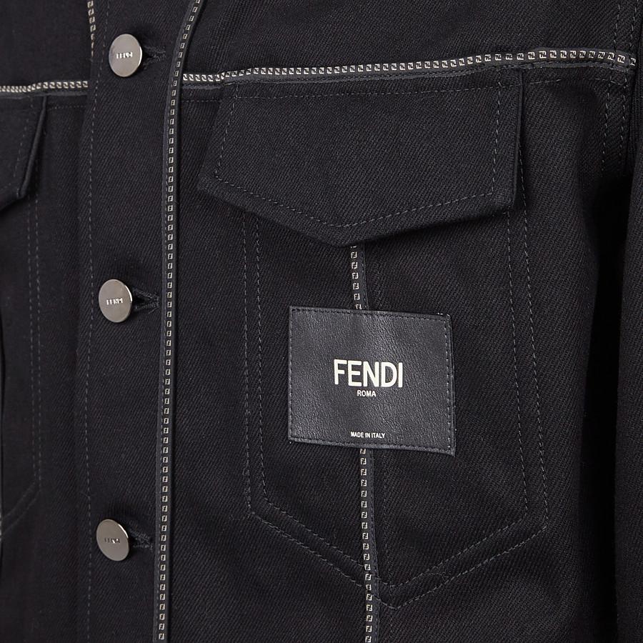 FENDI JACKET - Black denim jacket - view 3 detail