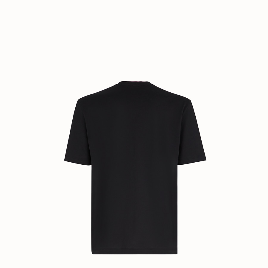 FENDI T-SHIRT - Black cotton jersey T-shirt - view 2 detail