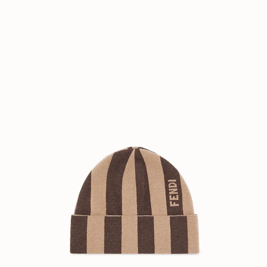 FENDI HAT - Brown cashmere hat - view 1 detail
