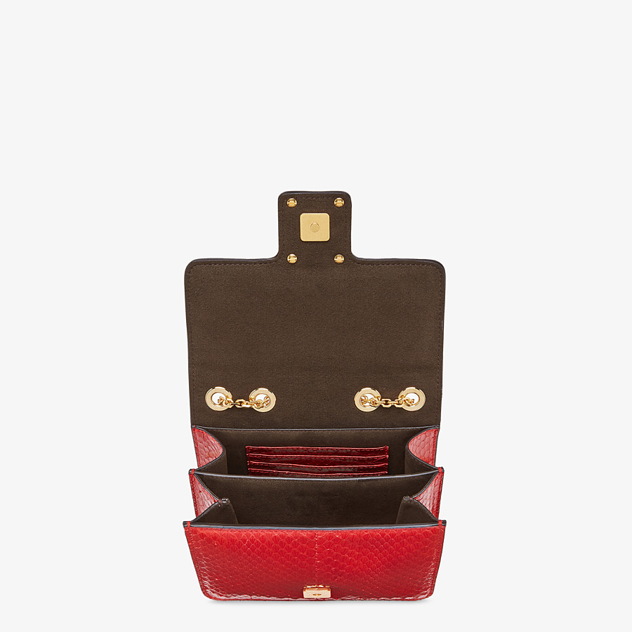 FENDI FENDI FAB - Bag in red elaphe - view 4 detail