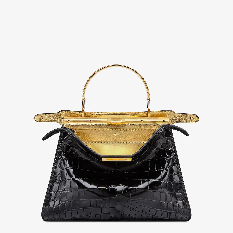 FENDI PEEKABOO ISEEU MEDIUM - Black crocodile leather bag - view 2 detail