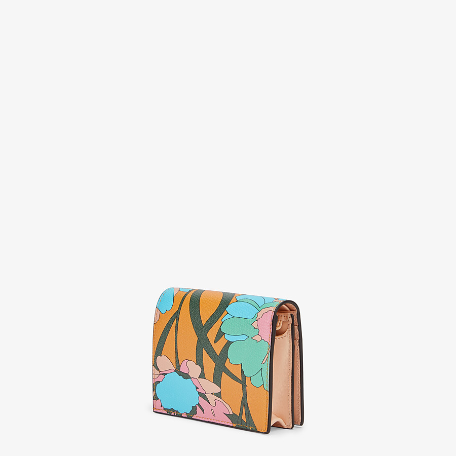 FENDI SMALL WALLET - Multicolor leather wallet - view 2 detail