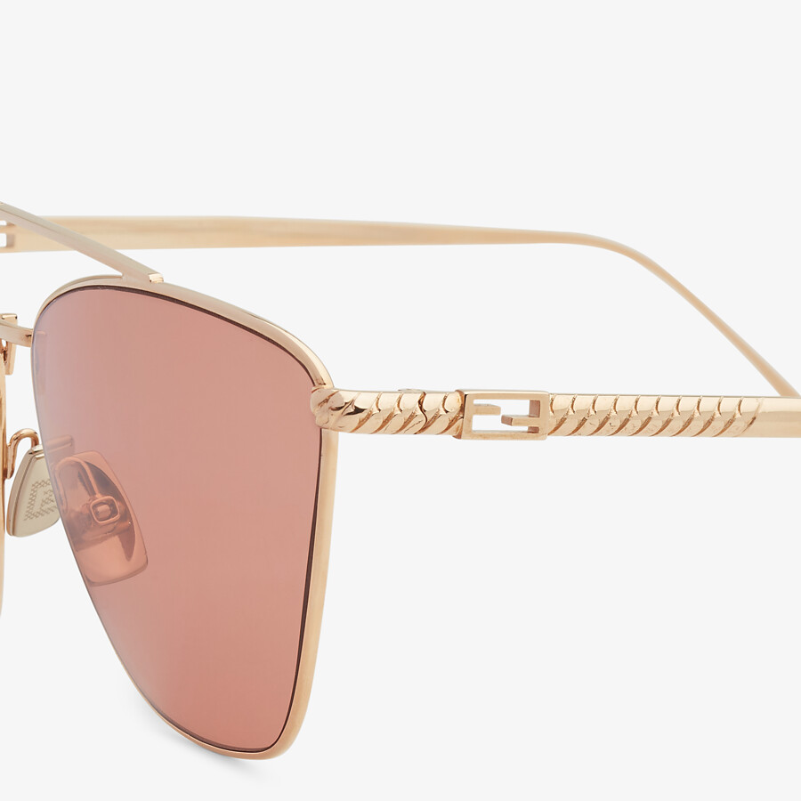 FENDI BAGUETTE - Rose-gold-colored sunglasses - view 3 detail