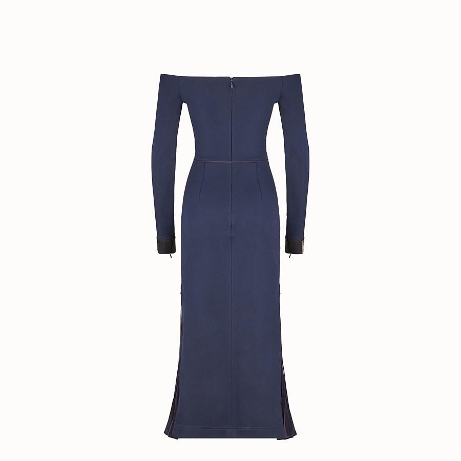 FENDI DRESS - Blue cotton dress - view 2 detail