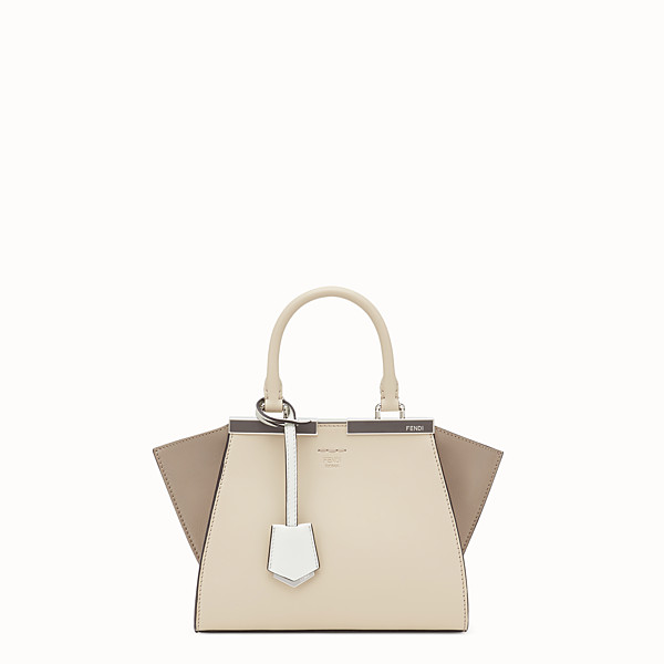 FENDI MINI 3JOURS - Beige leather mini-bag - view 1 small thumbnail