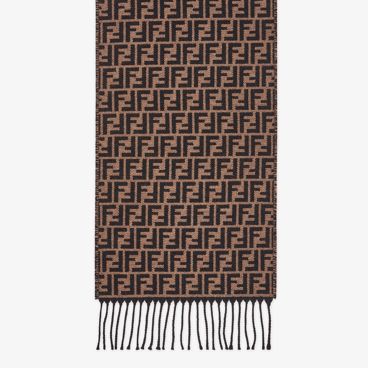 FENDI STOLE - Brown wool scarf - view 1 detail