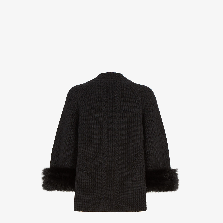 FENDI PULLOVER - Black cashmere sweater - view 2 detail
