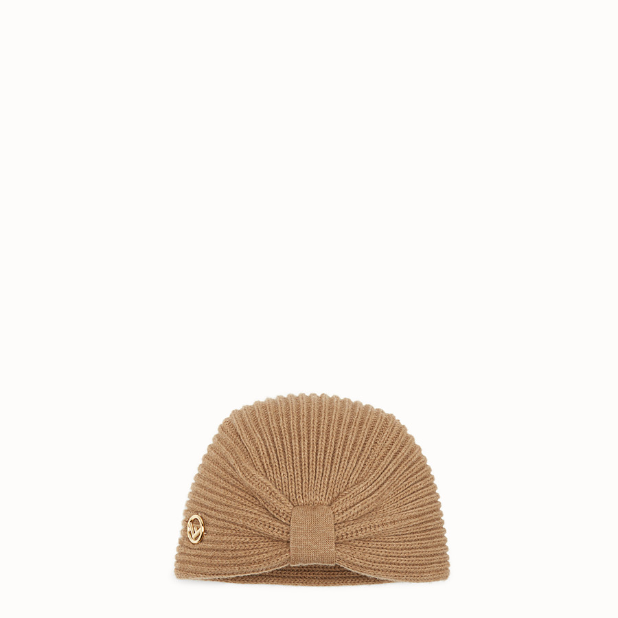 FENDI F IS FENDI HAT - Beige wool hat - view 1 detail