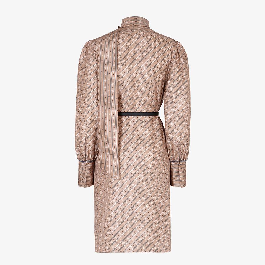 FENDI DRESS - Beige silk dress - view 2 detail