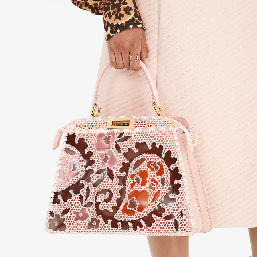 FENDI MEDIUM PEEKABOO ISEEU - Pink lace bag - view 2 detail