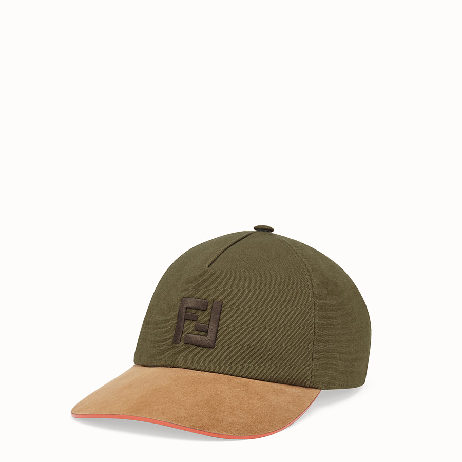 FENDI HAT - Green canvas baseball cap - view 1 detail