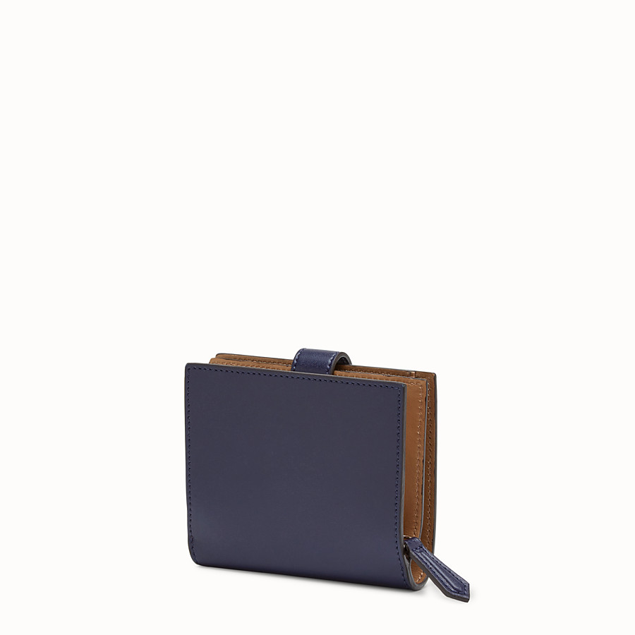 FENDI BIFOLD - Small blue leather wallet - view 2 detail