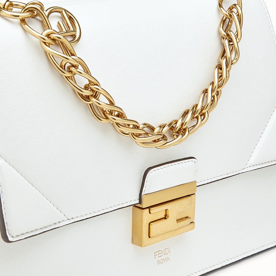 FENDI KAN U - White leather bag - view 5 detail