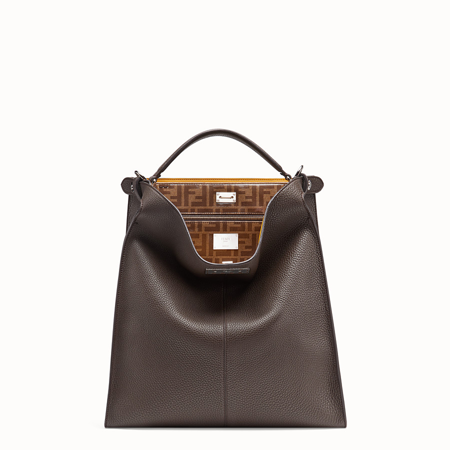 FENDI PEEKABOO X-LITE FIT - Tasche aus Leder in Braun - view 2 detail