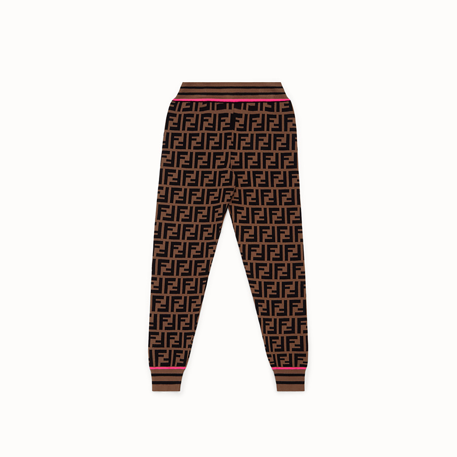 FENDI PANTS - Fendi Roma Amor knit trousers - view 1 detail
