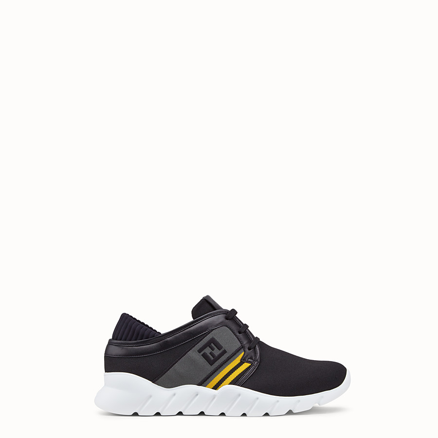 FENDI SNEAKERS - Black tech fabric sneakers - view 1 detail