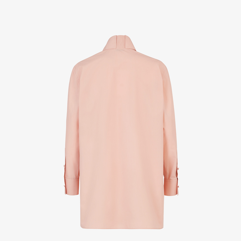 FENDI SHIRT - Pink cotton shirt - view 2 detail