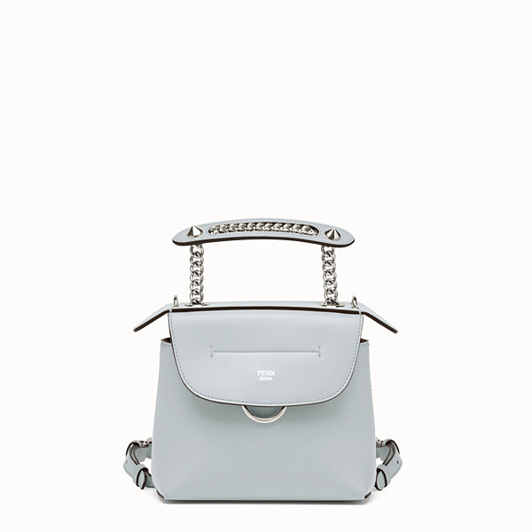 FENDI MINI BACK TO SCHOOL BACKPACK - Mini backpack in light blue leather - view 1 small thumbnail