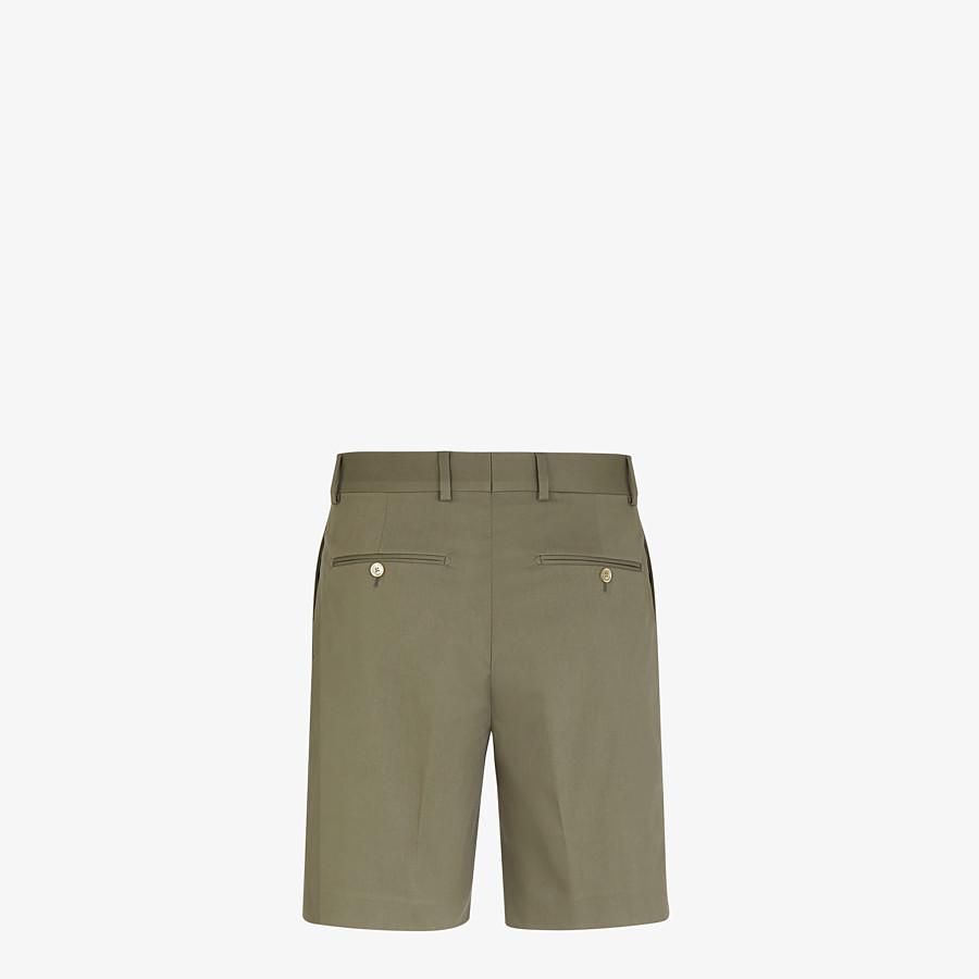FENDI BERMUDAS - Green cotton trousers - view 2 detail