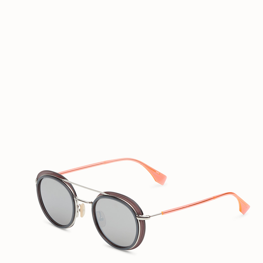 FENDI FENDI GLASS - Grey and palladium sunglasses - view 2 detail