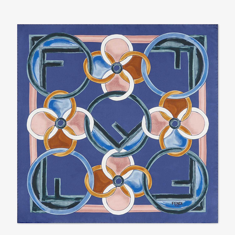 FENDI F IS FENDI FOULARD - Blue silk foulard - view 1 detail