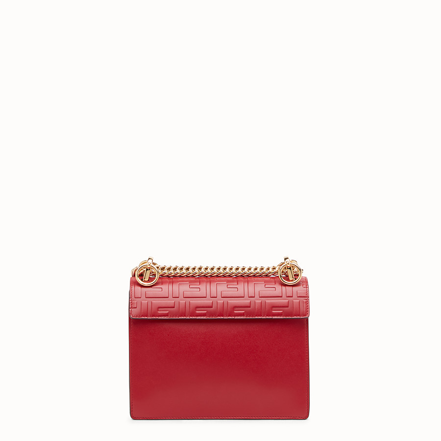 FENDI KAN I SMALL - Mini sac en cuir rouge - view 3 detail