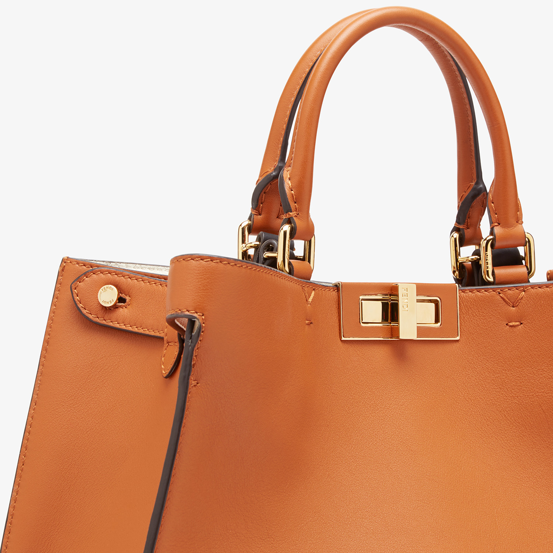 FENDI SMALL PEEKABOO X-TOTE -  Brown leather bag - view 6 detail