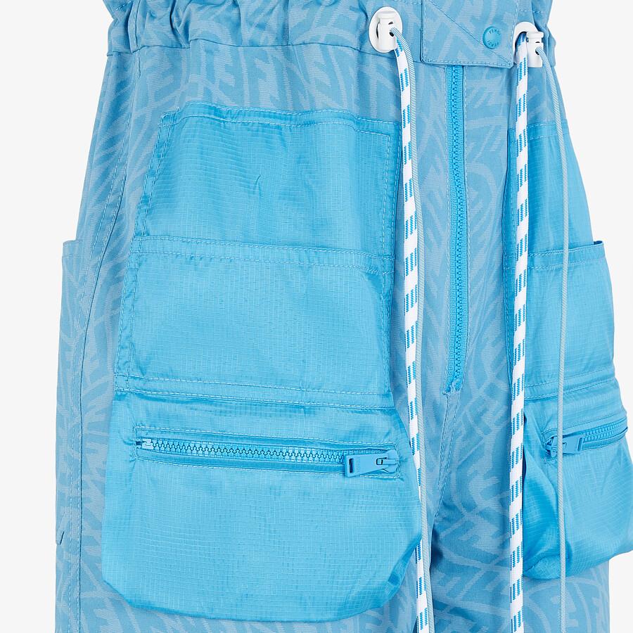 FENDI JUMPSUIT - Light blue denim jumpsuit - view 3 detail