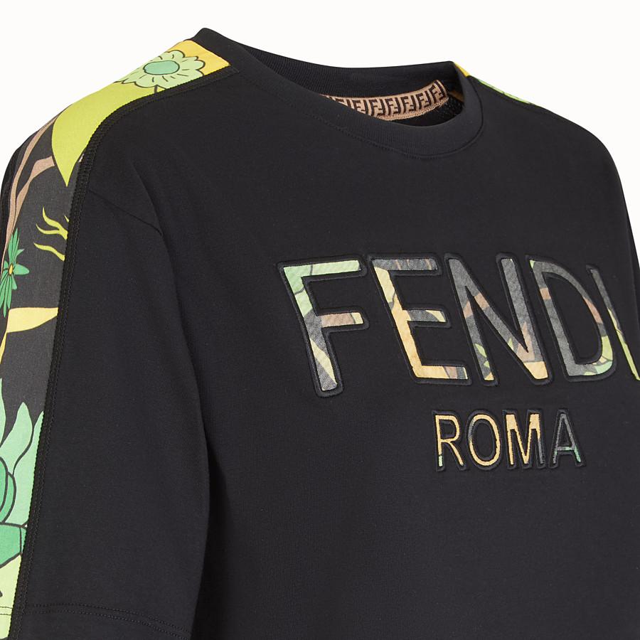 FENDI T-SHIRT - T-shirt in cotone nero - vista 3 dettaglio