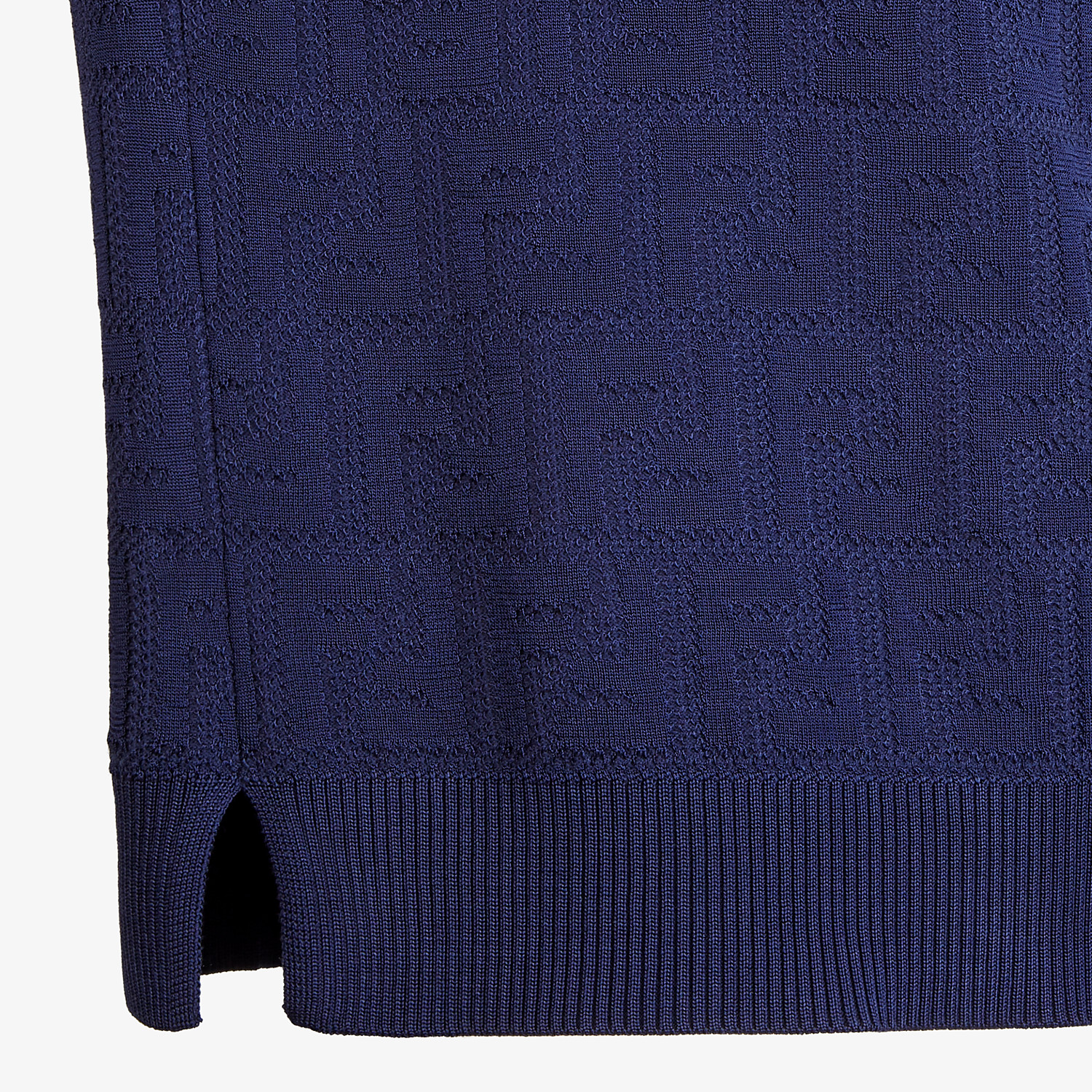 FENDI JUMPER - Blue cotton and viscose jumper - view 3 detail
