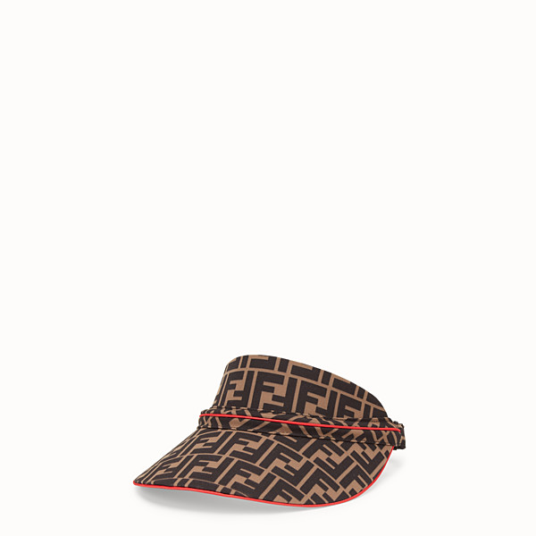 FENDI FENDIRAMA VISOR - Multicolour cotton visor - view 1 small thumbnail