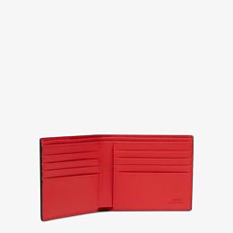 FENDI WALLET - Black leather horizontal wallet - view 3 thumbnail