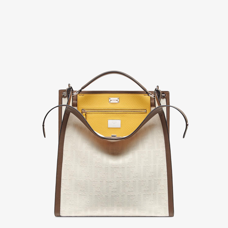 FENDI PEEKABOO X-LITE FIT - White canvas bag - view 1 detail