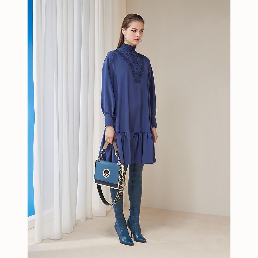 FENDI 洋裝 - 藍色真絲洋裝 - view 6 detail