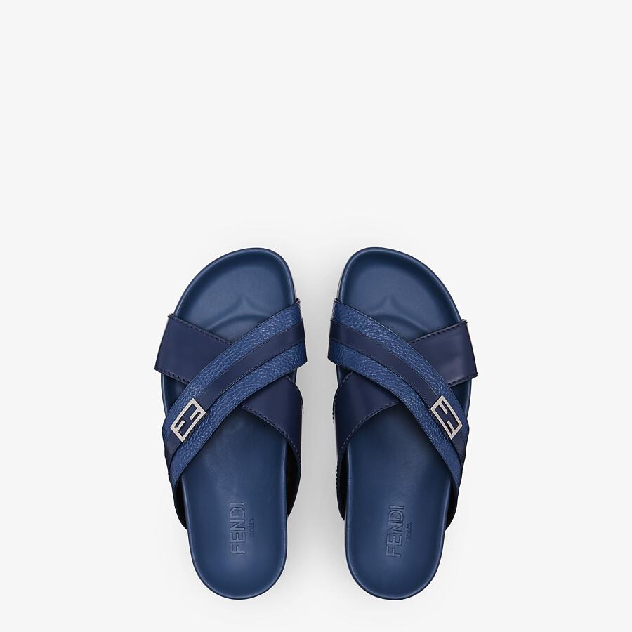 FENDI SANDALS - Blue leather fussbets - view 4 detail