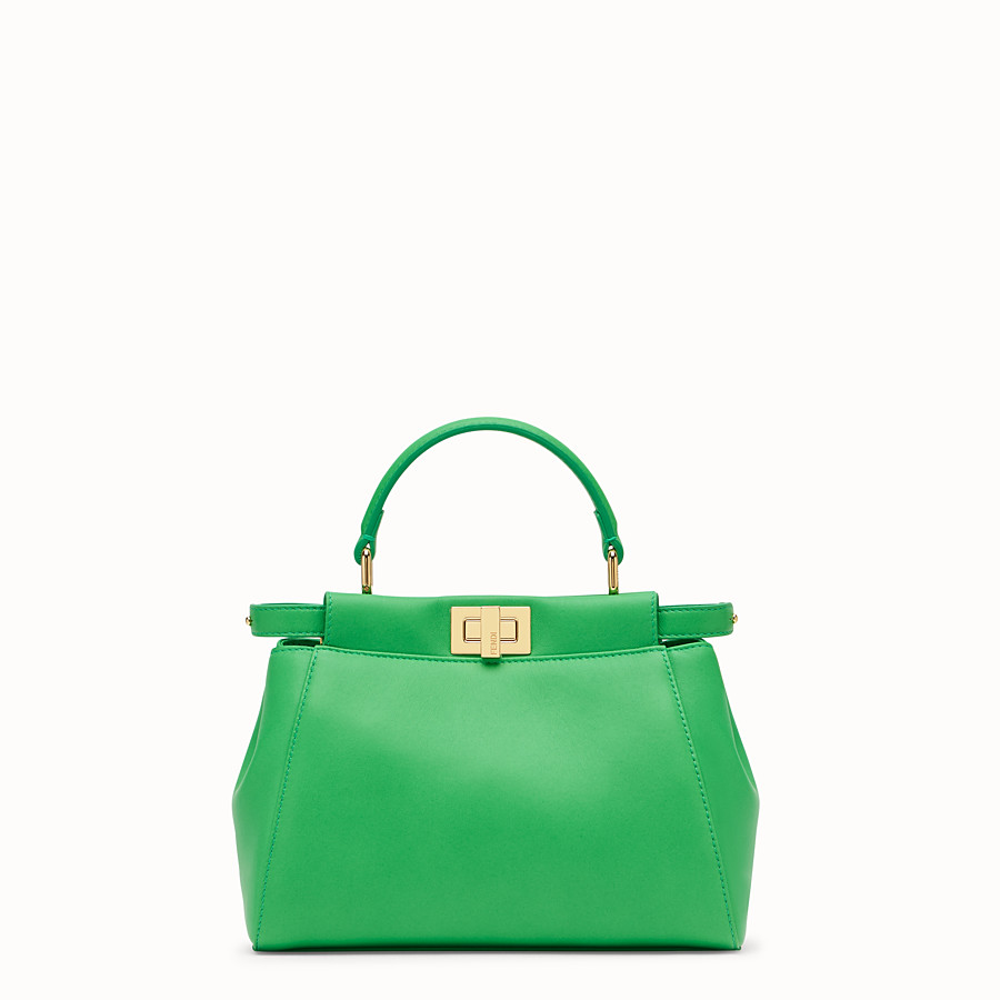 FENDI PEEKABOO ICONIC MINI - Green nappa leather bag - view 1 detail