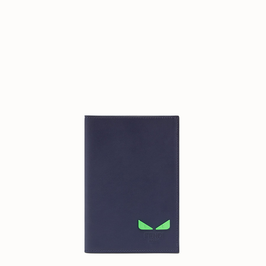 FENDI PASSPORT COVER - Blue leather passport cover - view 1 detail