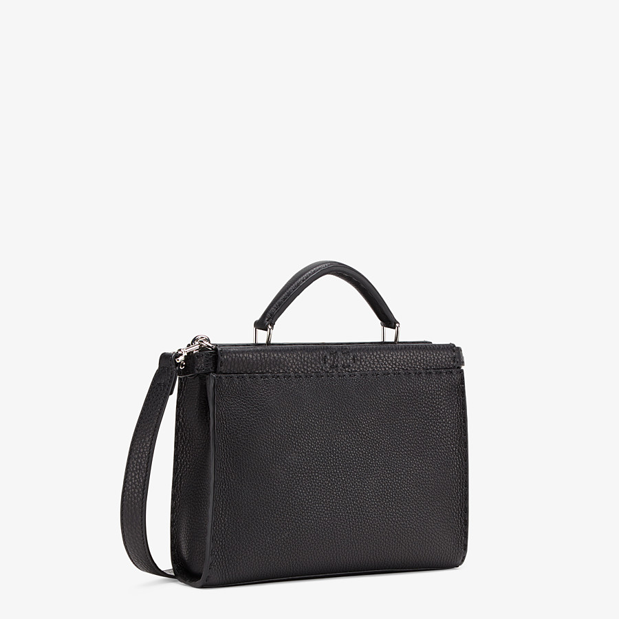 FENDI PEEKABOO ICONIC FIT MINI - Black leather bag - view 2 detail