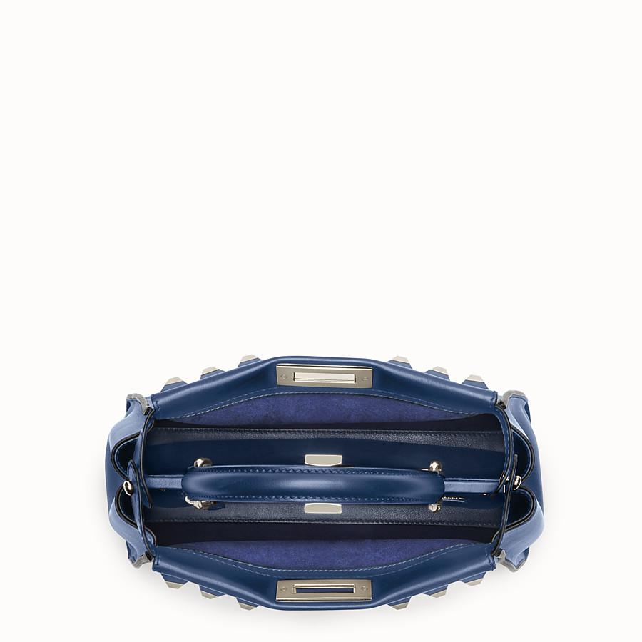 FENDI 레귤러 피카부 - 미드나잇 블루 컬러의 가죽 백 - view 4 detail