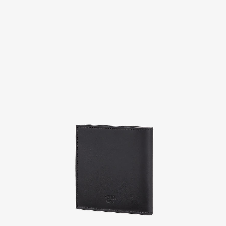 FENDI WALLET - Black leather bi-fold wallet - view 2 detail