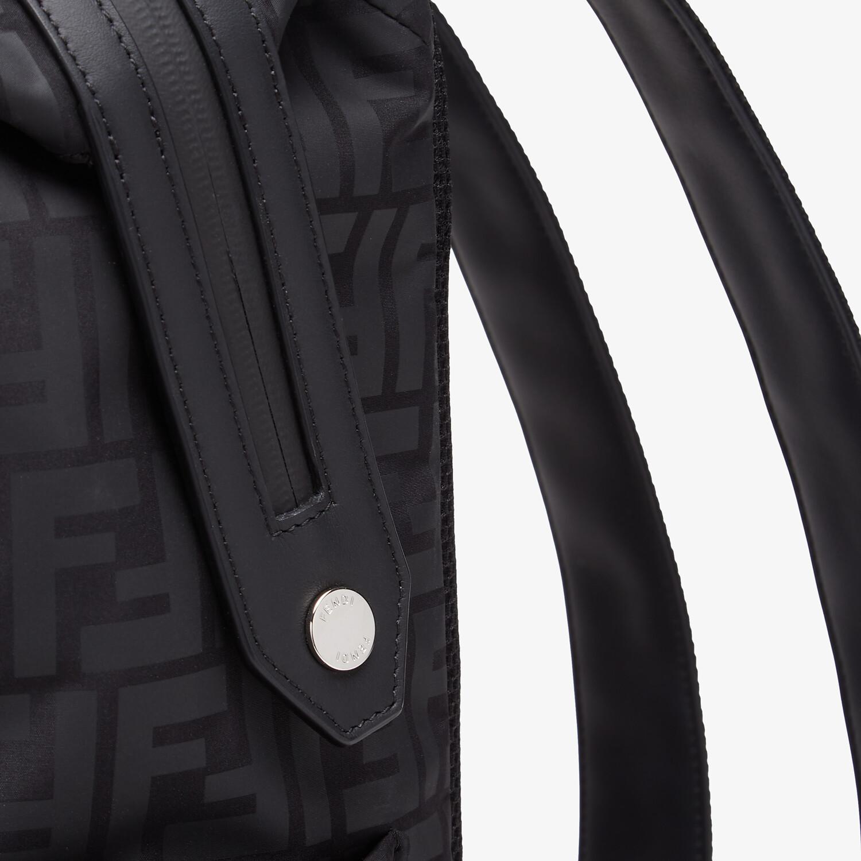 FENDI JUNIOR BACKPACK - Matt black nylon junior backpack - view 3 detail