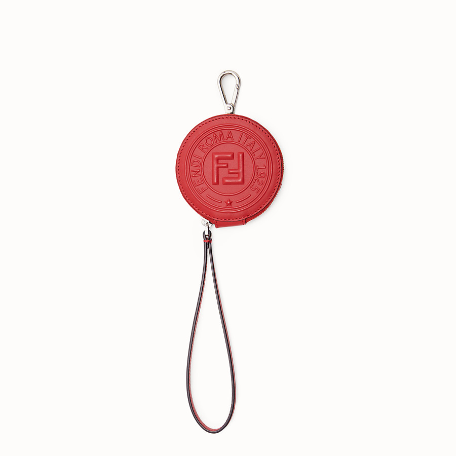 FENDI COIN PURSE - Red leather charm - view 1 detail