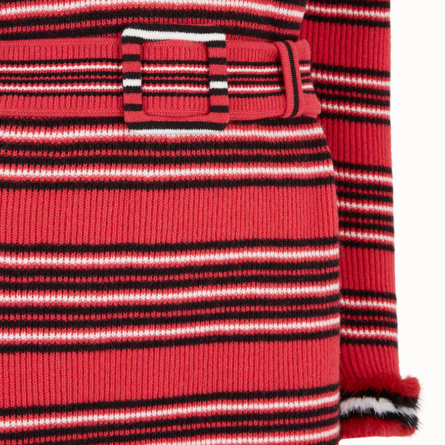 FENDI DRESS - Multicolour wool and cashmere dress - view 3 detail