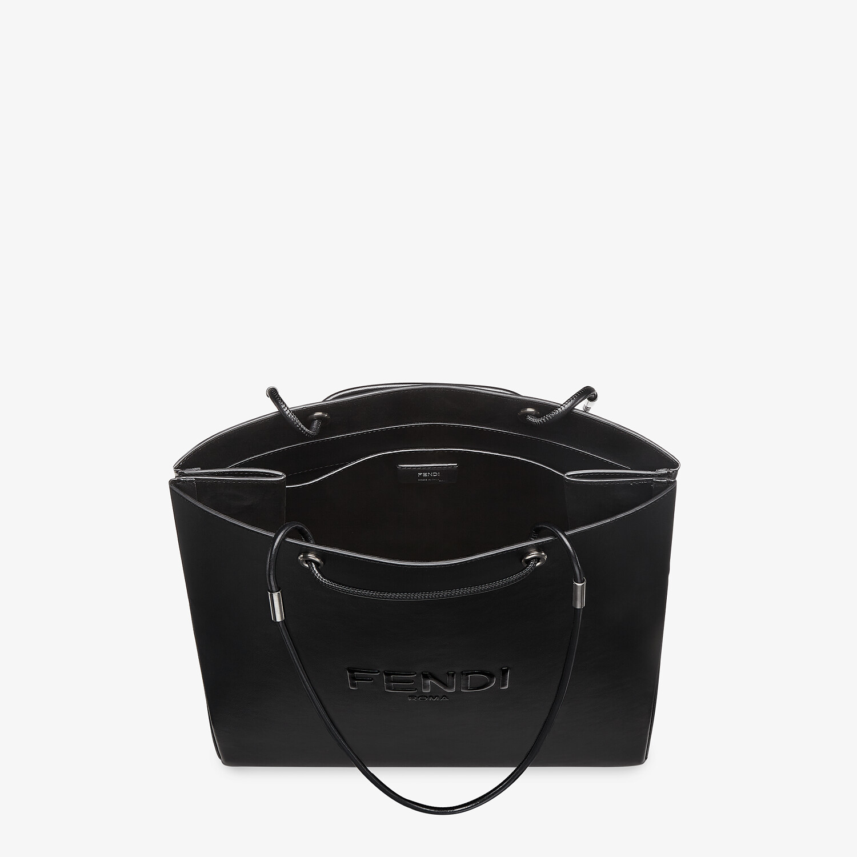 FENDI FENDI PACK MEDIUM SHOPPING BAG - Black leather bag - view 4 detail