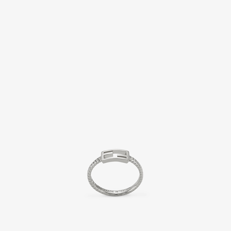 FENDI BAGUETTE RING - Silver-colored ring - view 1 detail