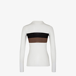 FENDI PULLOVER - Pullover aus Seide in Weiß - view 2 thumbnail