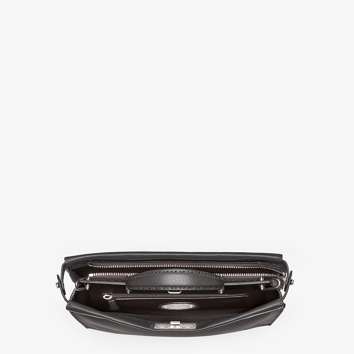 FENDI PEEKABOO ICONIC FIT - Black leather Selleria bag - view 4 detail