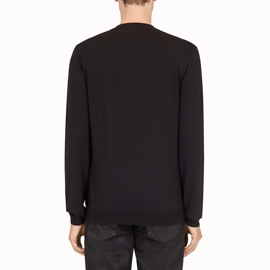 FENDI 套頭毛衣 - 黑色羊毛套頭上衣 - view 2 detail