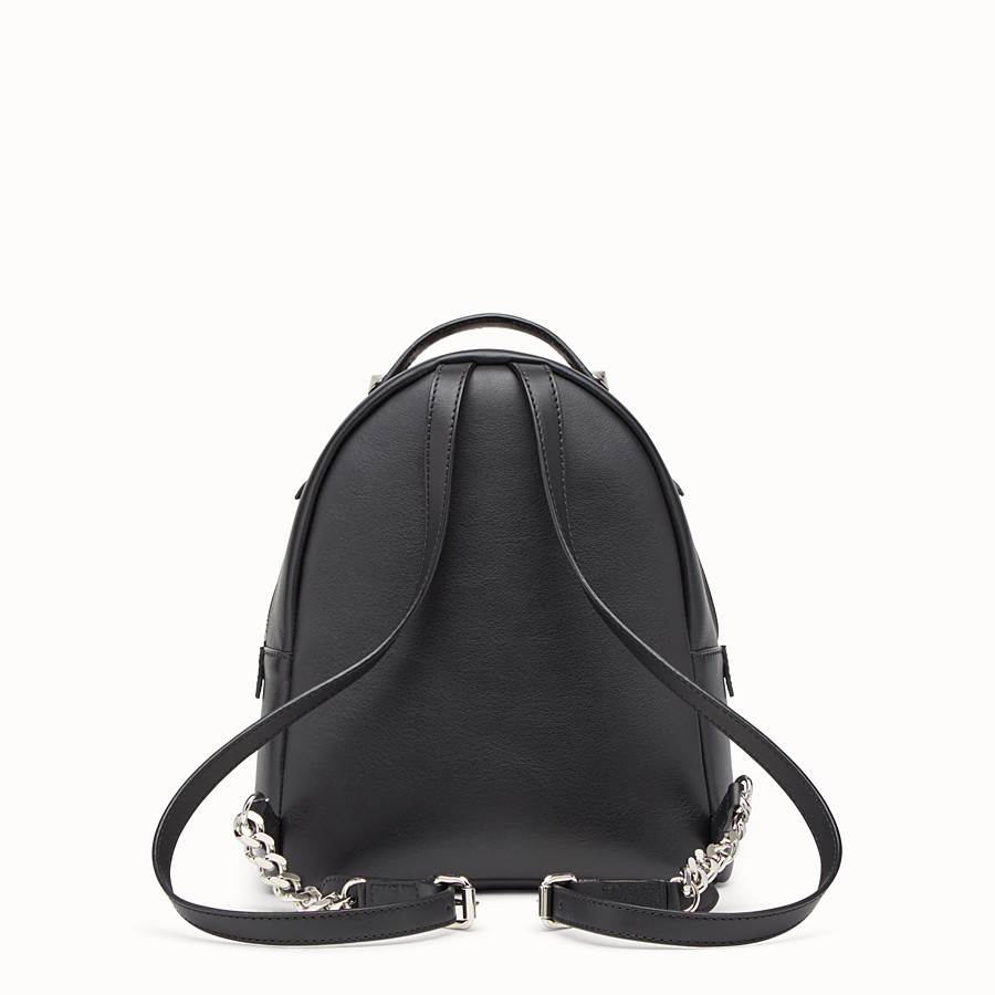 FENDI MINI BACKPACK - in black leather with studs - view 3 detail