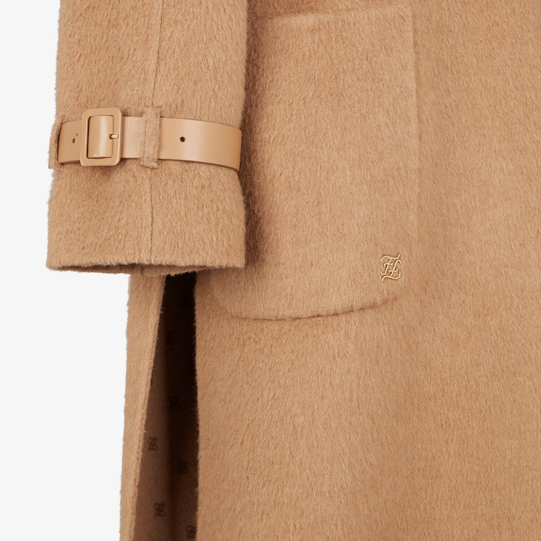 FENDI TRENCH COAT - Brown camel-hair trench coat - view 3 detail